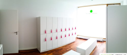 WE PROUDLY PRESENT – OUR BEAUTIFUL PINK LOCKER ROOM